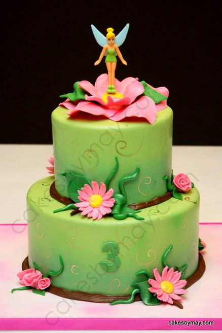 Awesome Tinkerbell Birthday Cake Cake By Cakesbymaylene Tinkerbell Funny Birthday Cards Online Alyptdamsfinfo