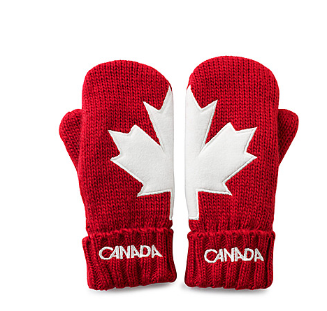 The Bay Canada Olympic Mittens | Canada in 2019 | Red ...