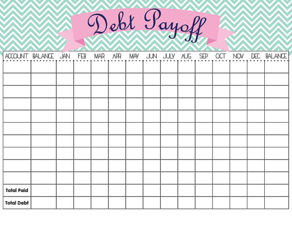 Debt Payoff Tracker Template by OwlBeOrderly on Etsy, $1.00 | Bill ...