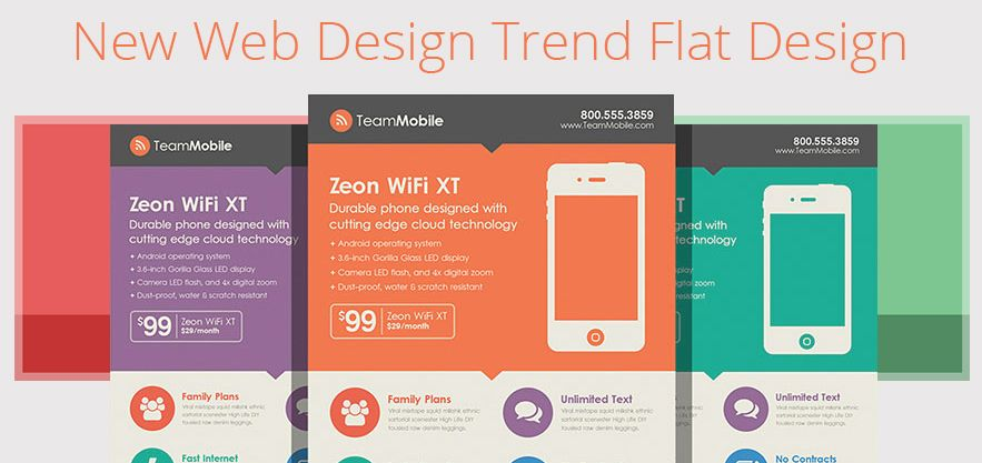 New Web Design Trend: Flat Design