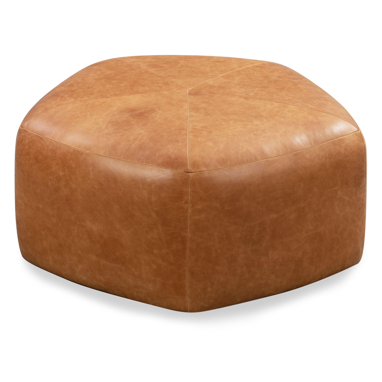 Porto Ottoman In 2020 Round Leather Ottoman Leather Ottoman Coffee Table Leather Ottoman