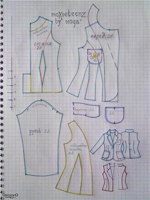 Изображение Moxie Teenz blazer pattern   DOLLs dress   Pinterest ...