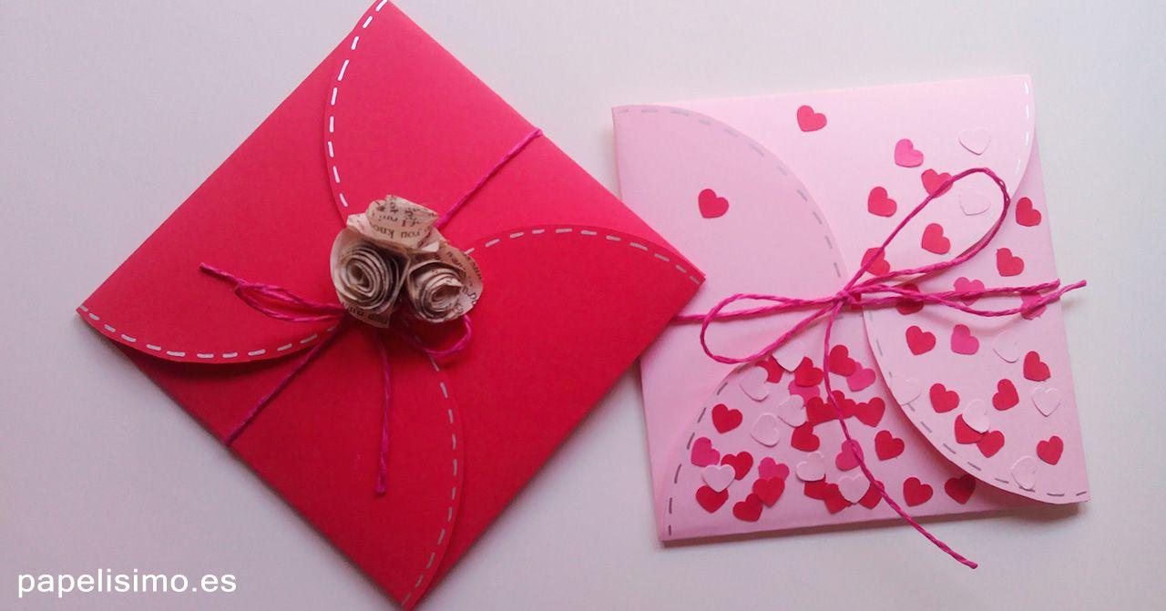 Aprende c mo hacer un sobre especial para tarjetas - Como hacer tarjetas para regalar ...