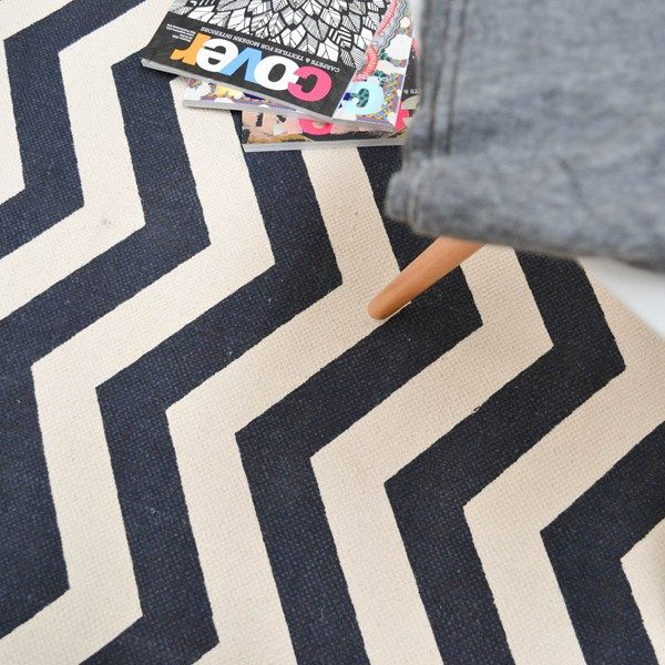 Onix Zig Zag Rugs ON12 in Blue - Free UK Delivery - The Rug Seller