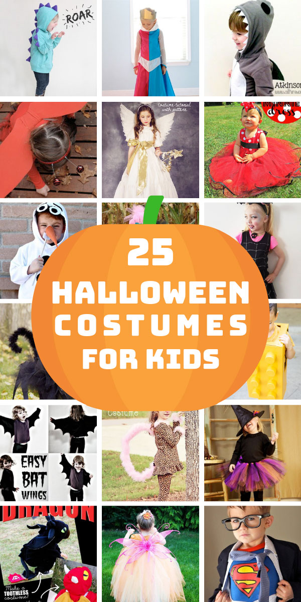 25 Easy Homemade Halloween Costumes For Kids Including No Sew Ideas Halloween Costumes For Kids Homemade Halloween Costumes Easy Homemade Halloween Costumes