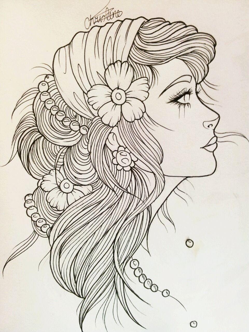 Pretty lady to color | mujeres | Pinterest | Colorear, Mandalas y Dibujo