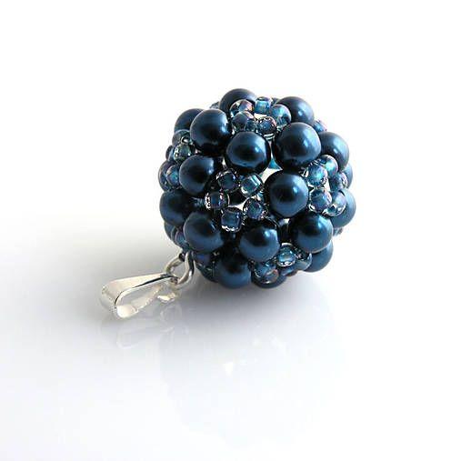 Perličkový tmavo modrý, AG925
