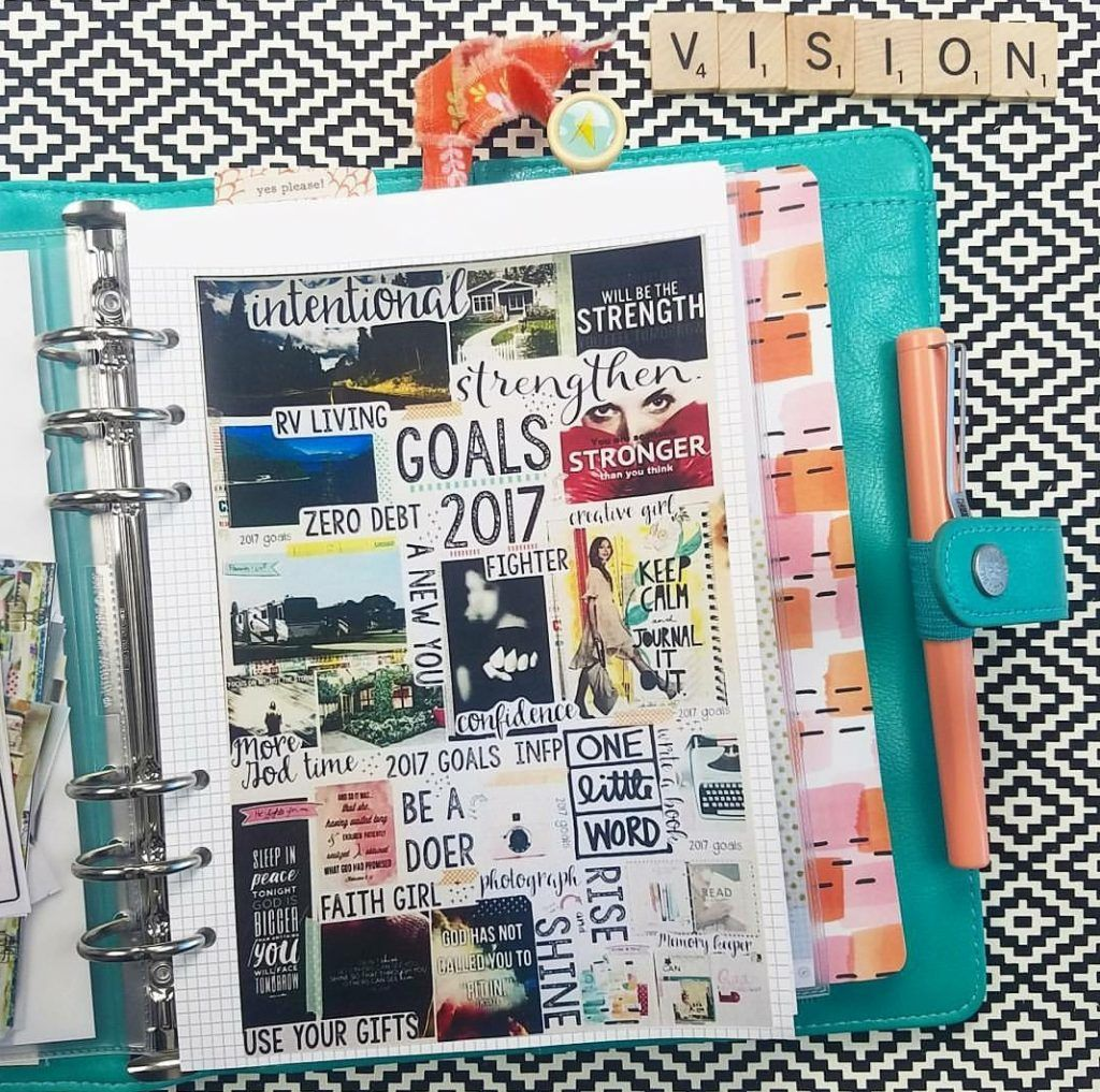 How to create a vision board in your daily planner
