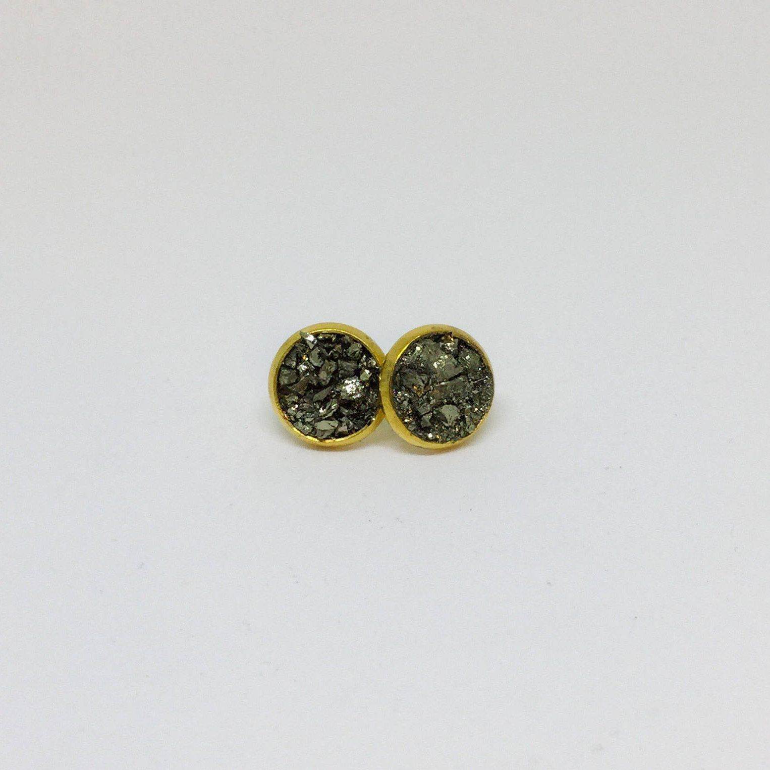 diamond earrings button women metallic jewel s dalewia pin and crushed gold