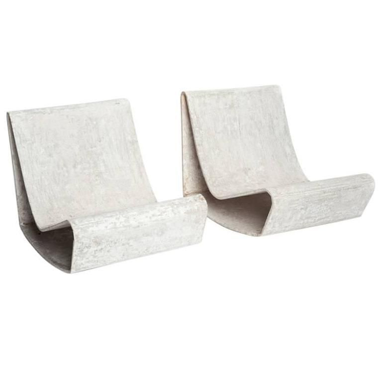 Stupendous Concrete Outdoor Mid Century Modern Loop Chairs By Willy Alphanode Cool Chair Designs And Ideas Alphanodeonline