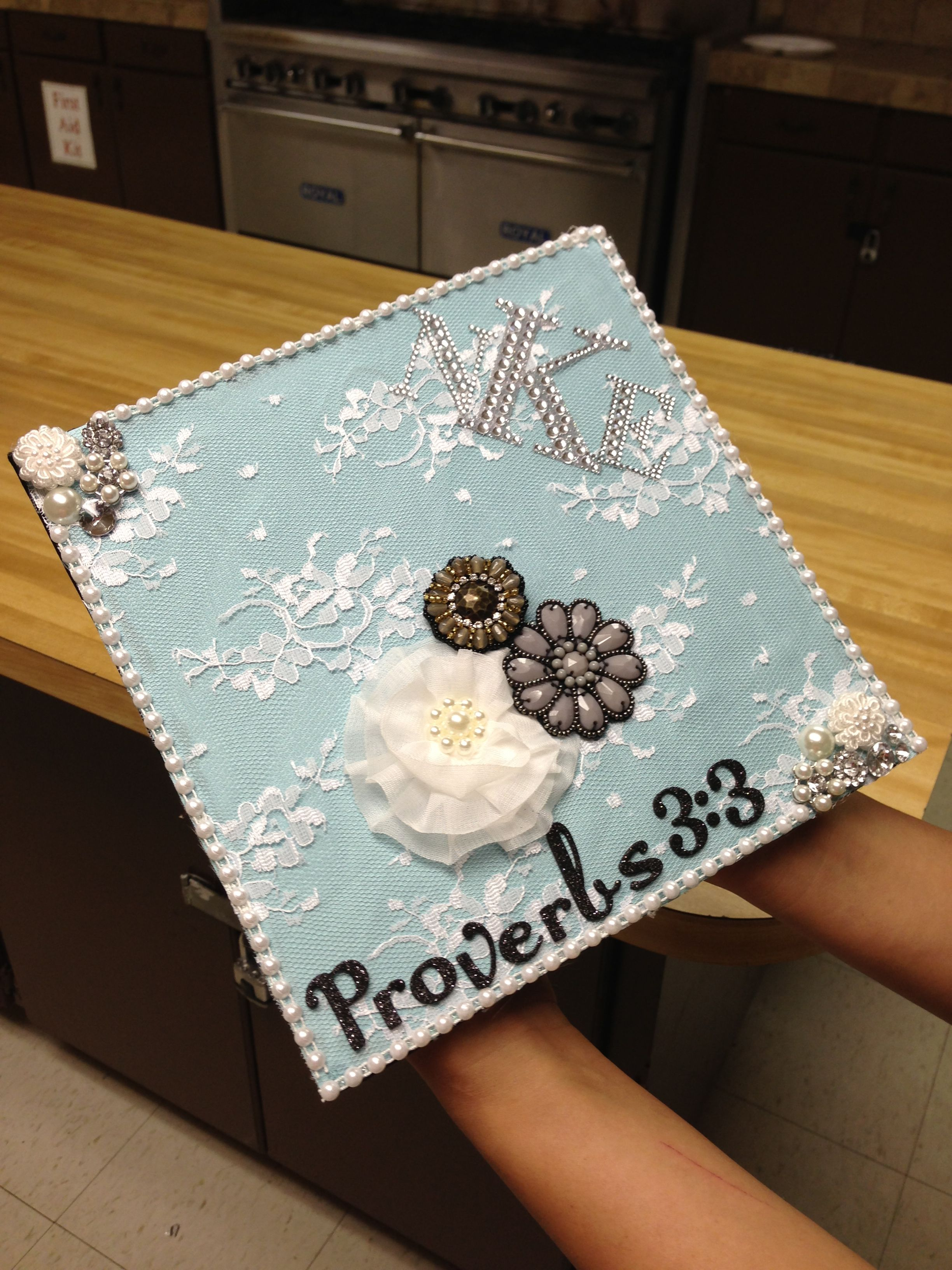 Decorated graduation cap class of 2016 pinterest for Decorated bible