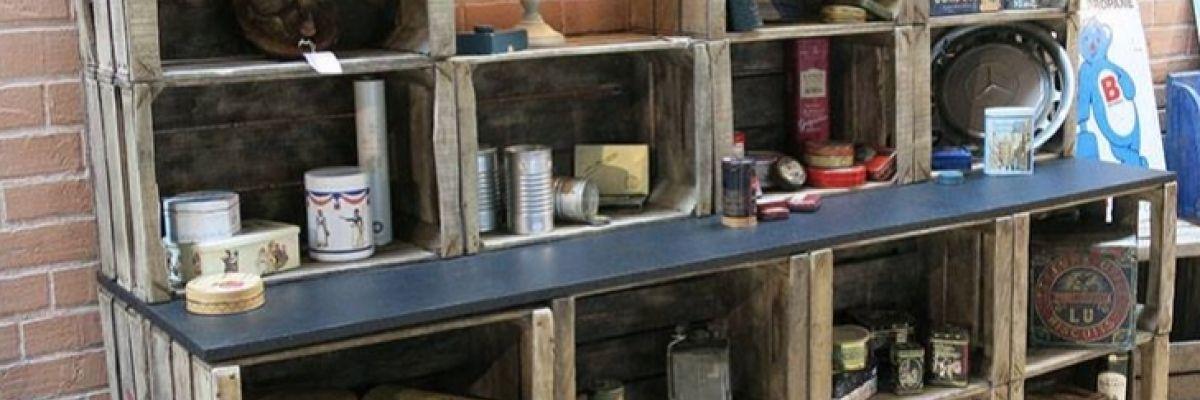 une caisse en bois pour am nager votre boutique caisses bois pinterest caisse caisse bois. Black Bedroom Furniture Sets. Home Design Ideas