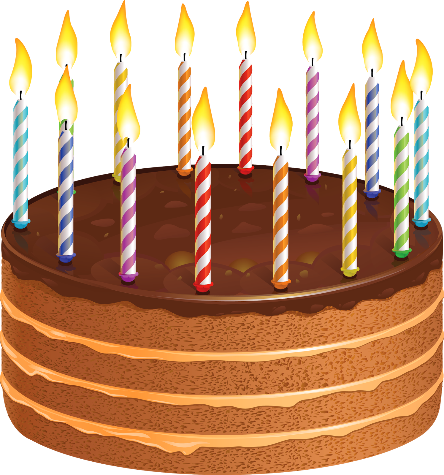 Happy Birthday Wishes Greetings Clipart Cake With Candles ...