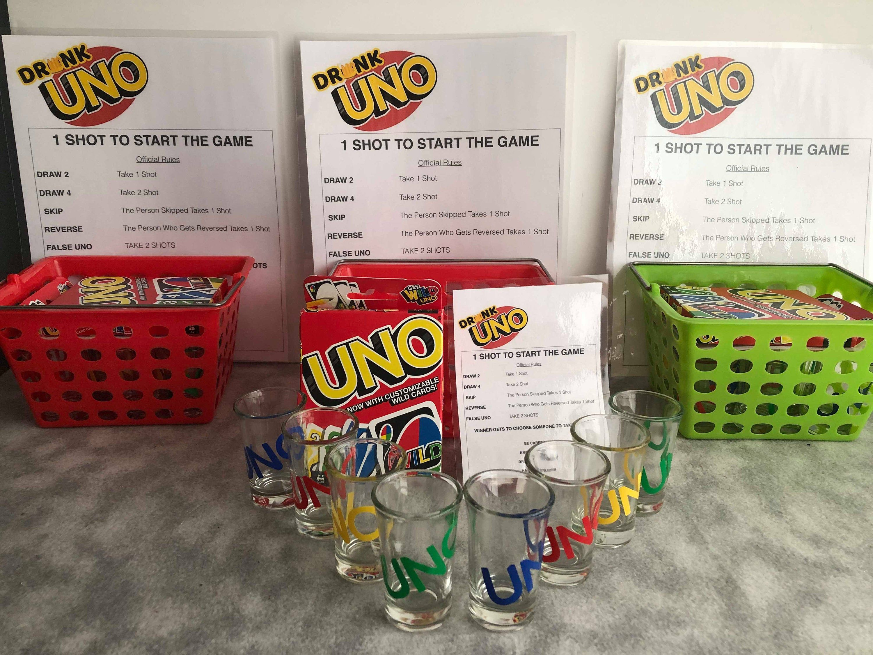 6 x Shot Glasses  Hen Night Party Adult Drinking Game
