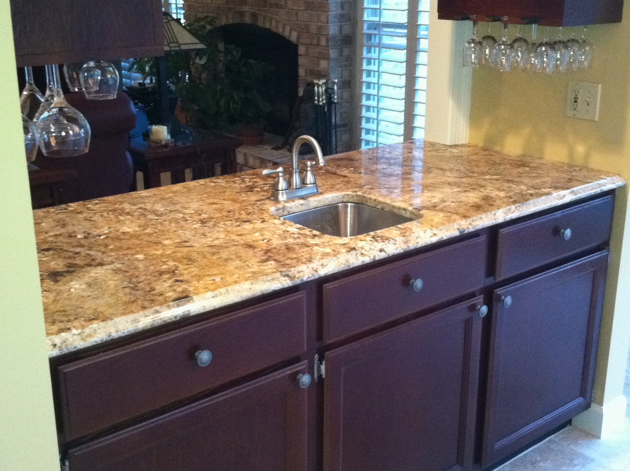 Granite Nilo River Countertops Fabricated And Installed By Stonetrends LLC.  Www.stonetrendsllc.com