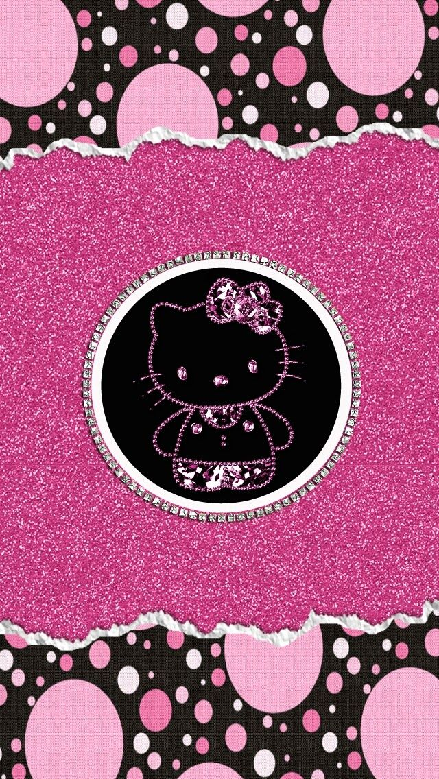 Freebies Pink Glam Wallpaper Collection Hello Kitty Wallpaper Kitty Wallpaper Hello Kitty Backgrounds