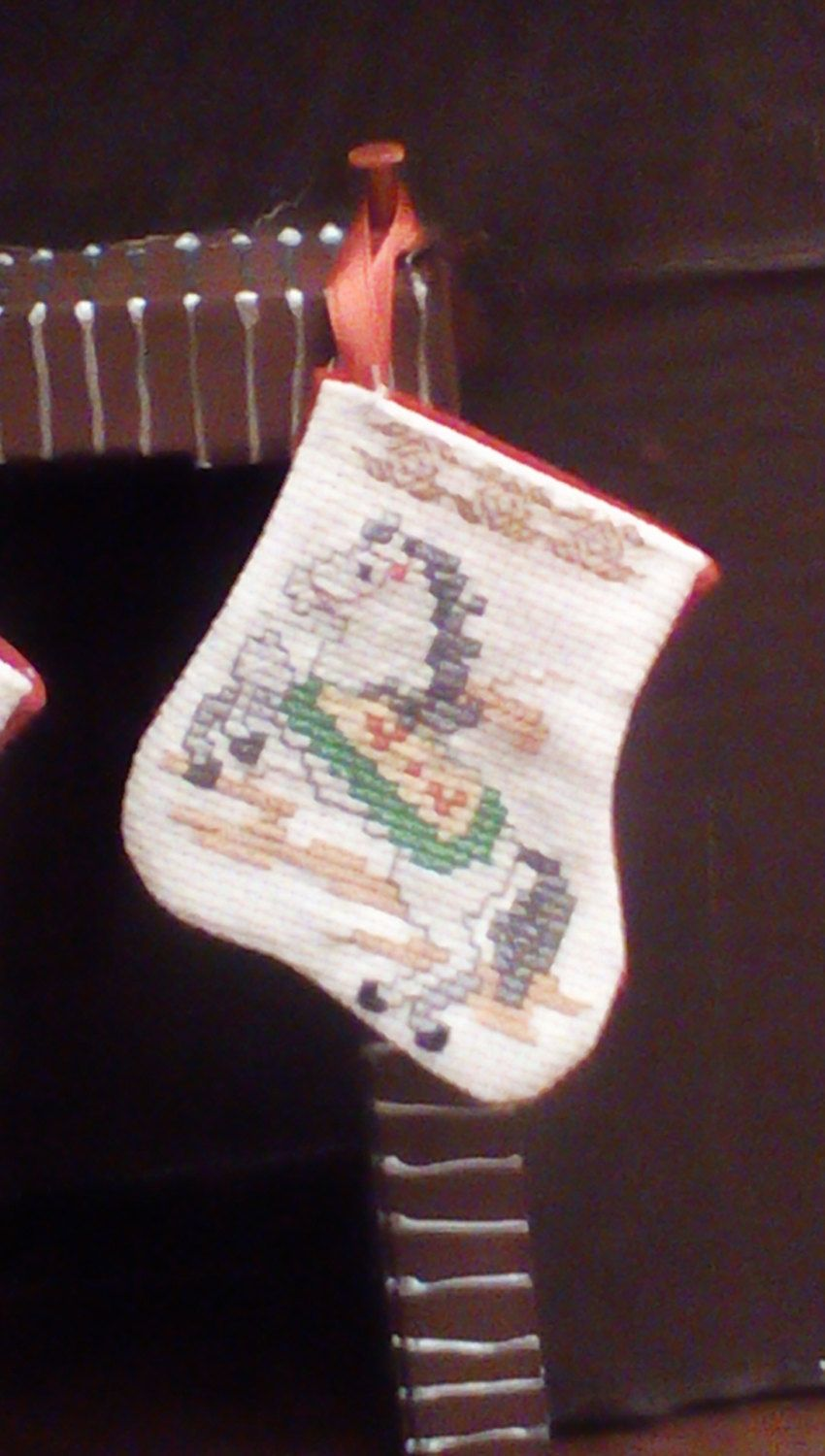 Miniature Carousel horse stocking by Tricia556 on Etsy