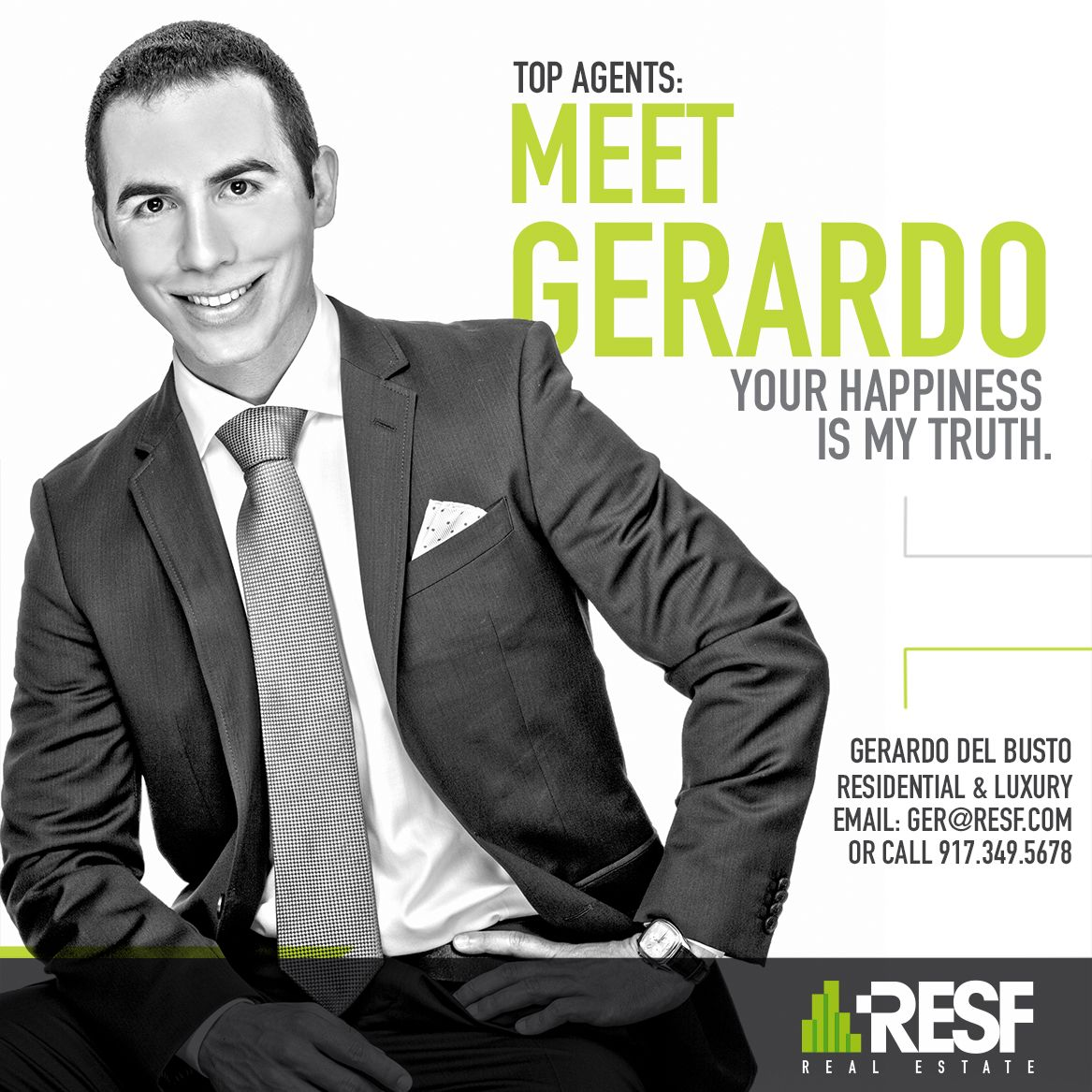 Meet top agent Gerardo del Busto, your happiness is my truth! Learn more about him: resf.com/gerardo-del-busto