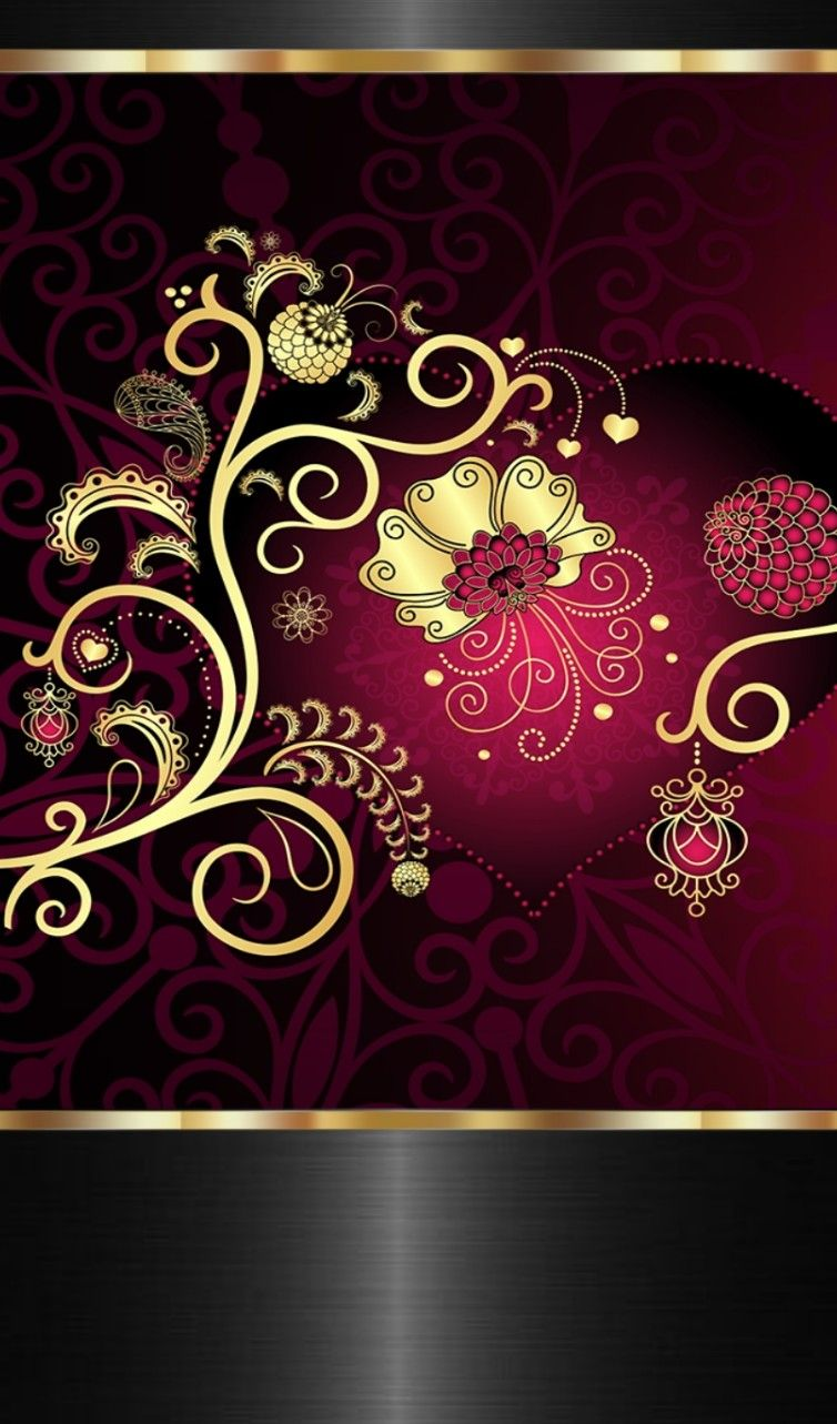 Black And Gold And Pink Red And Gold Wallpaper Gold Wallpaper Pattern Bling Wallpaper