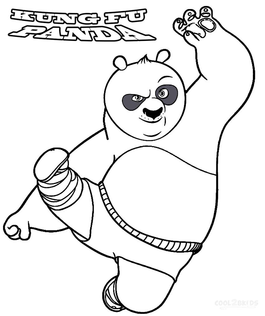 Printable Kung Fu Panda Coloring Pages For Kids