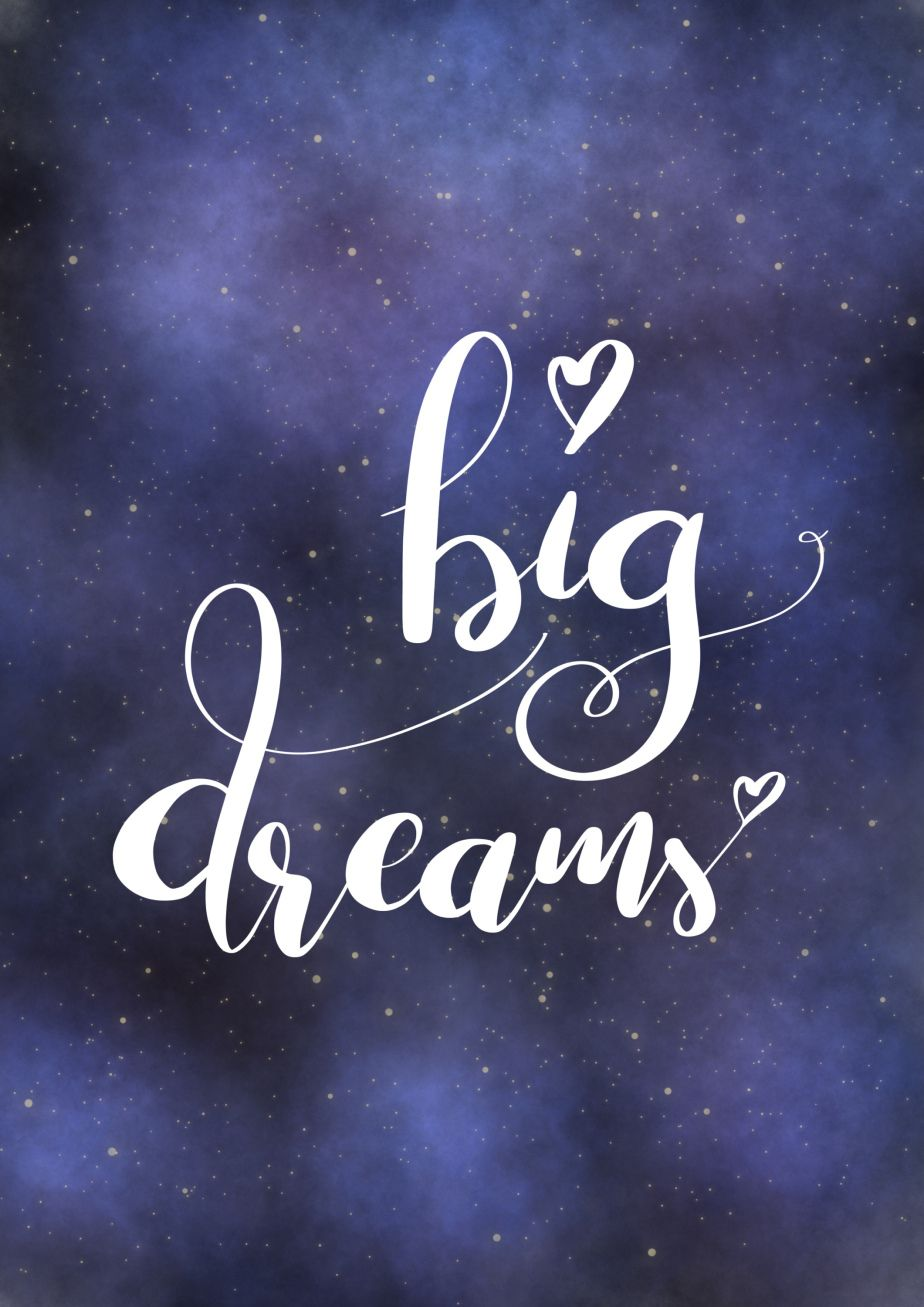 Big Dreams Calligraphy Quotes Cute Wallpaper Backgrounds Brush Lettering