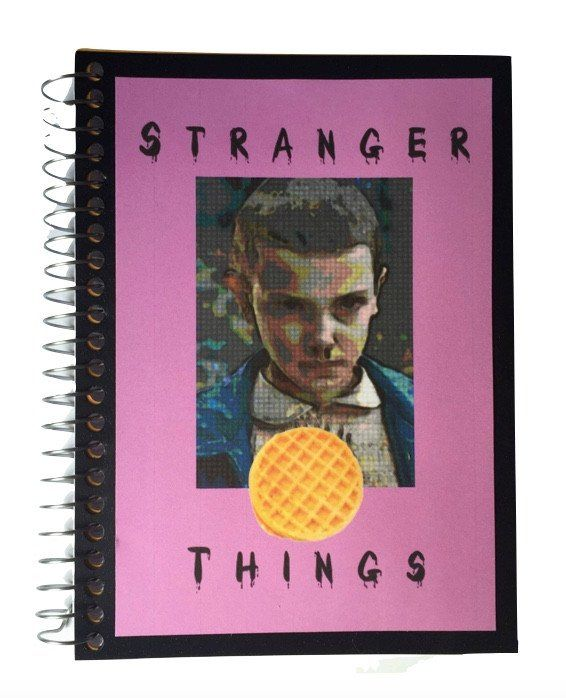 - Stranger Things inspired notebook - 5 x 7 notebook - 100 sheets, 200 pages, college ruled - Perforated pages to easily tear out paper
