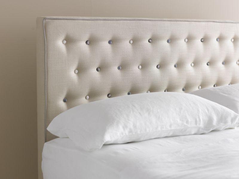 Mimosa Buttoned Headboard Divan Beds With Storage Headboard