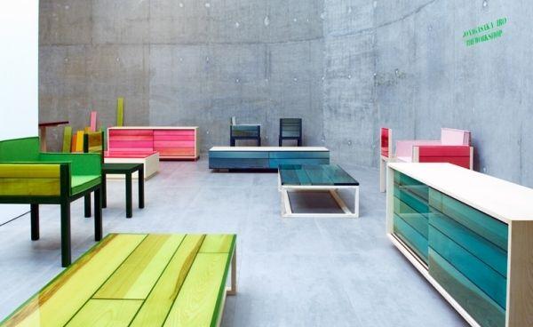 Architektur Möbel japanisches architekten team wallpaper möbel mit pignemtiertem harz