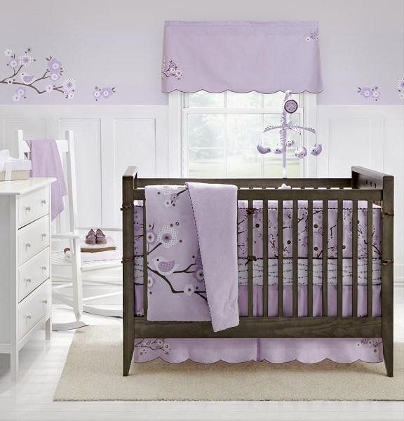 I Think These Colors Are Pretty For Girl Nursery Pale Lavendar White And Brown Purple Baby Rooms Baby Girl