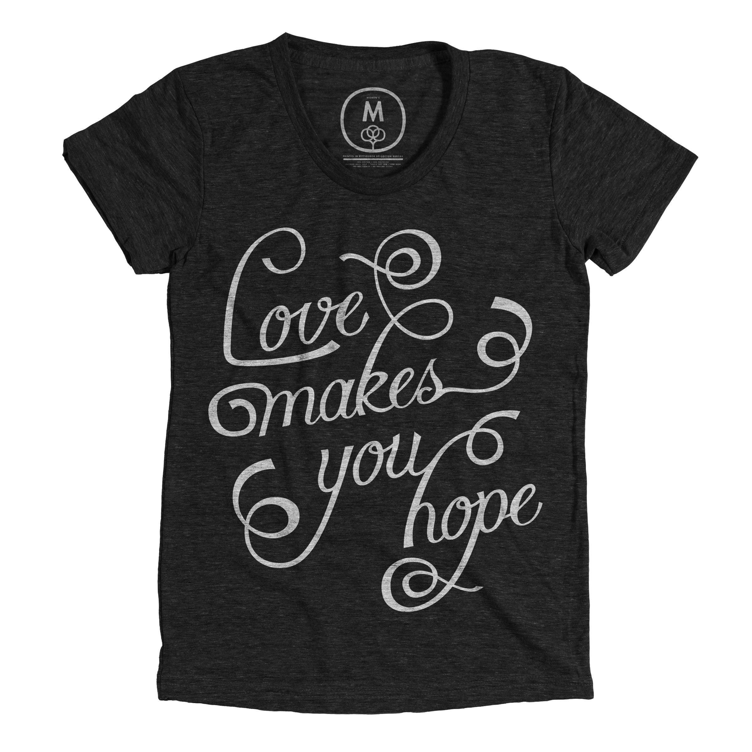 """""""Love Makes You Hope"""" by Connor Brassington.  This is a line from a key person in a documentary about LGBT members in a conservative Christian church, """"Seventh-Gay Adventists."""" This line embodies the film as a whole and is inspiring on its own."""