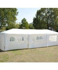 10 X 30 Party Gazebo Tent With 8 Walls White Gazebo Tent Party Gazebo White Gazebo