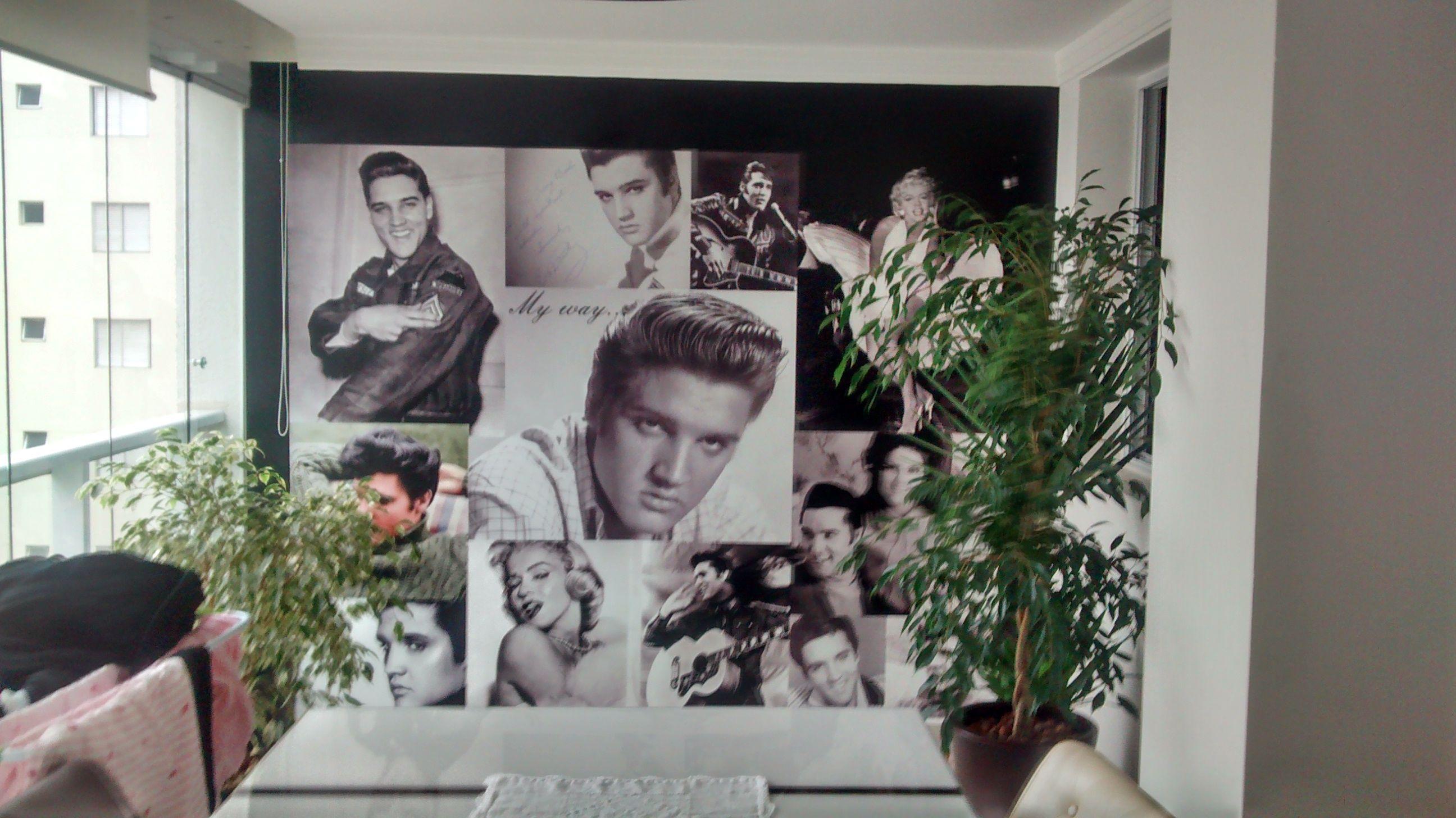 Parede personalizada - Elvis *Solicite uma imagem para sua parede, nós criamos ela pra você!!!