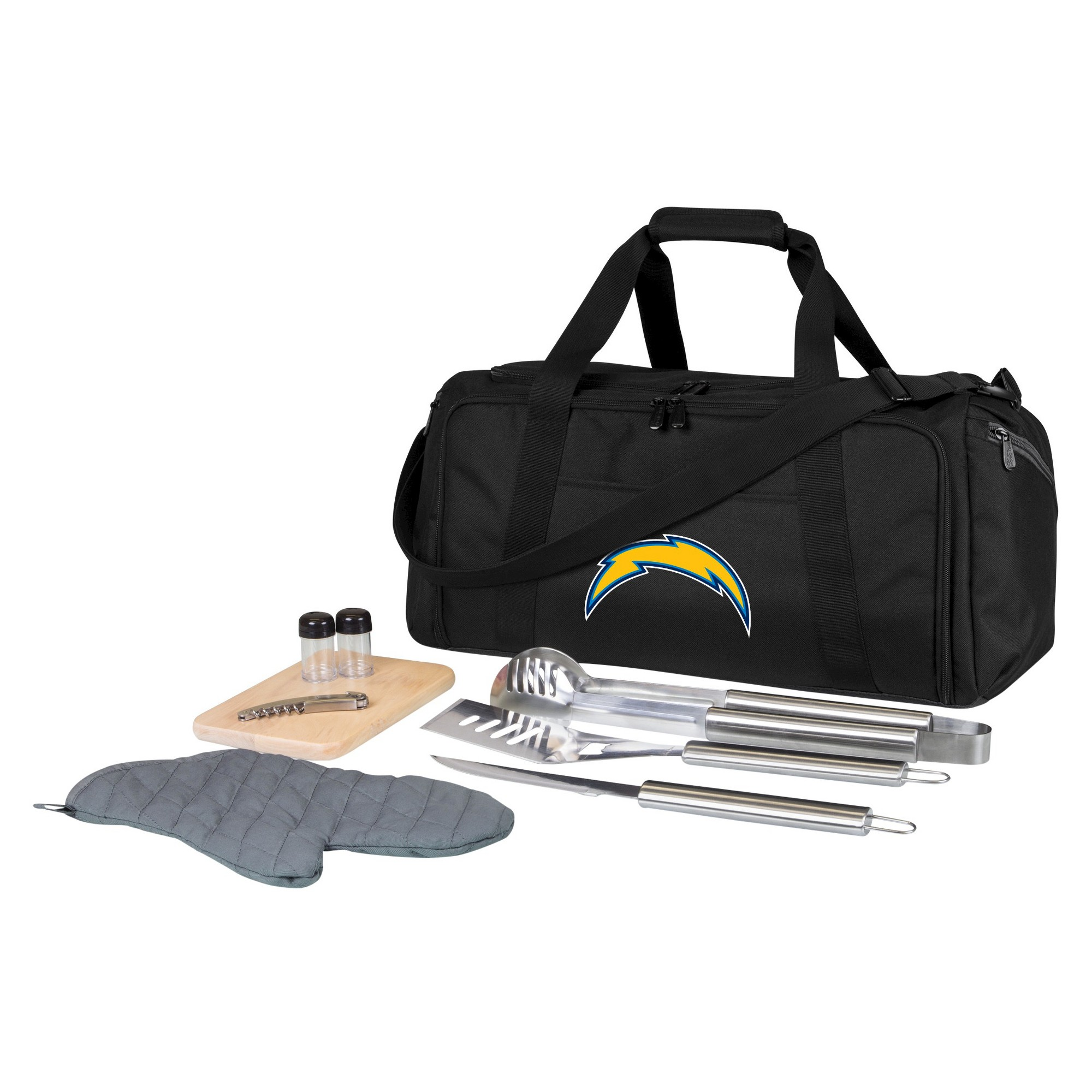 Los Angeles Chargers Bbq Grill Tools Kit With Duffel Bag San Diego Chargers Jacksonville Jaguars Carolina Panthers Indianapolis Colts
