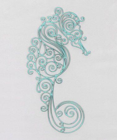 Metal Sea Horse Wall Art Zulily Zulilyfinds Papper Quil Pattern Yea Baby Horse Wall Art Horses Wall Decor Beach Wall Art