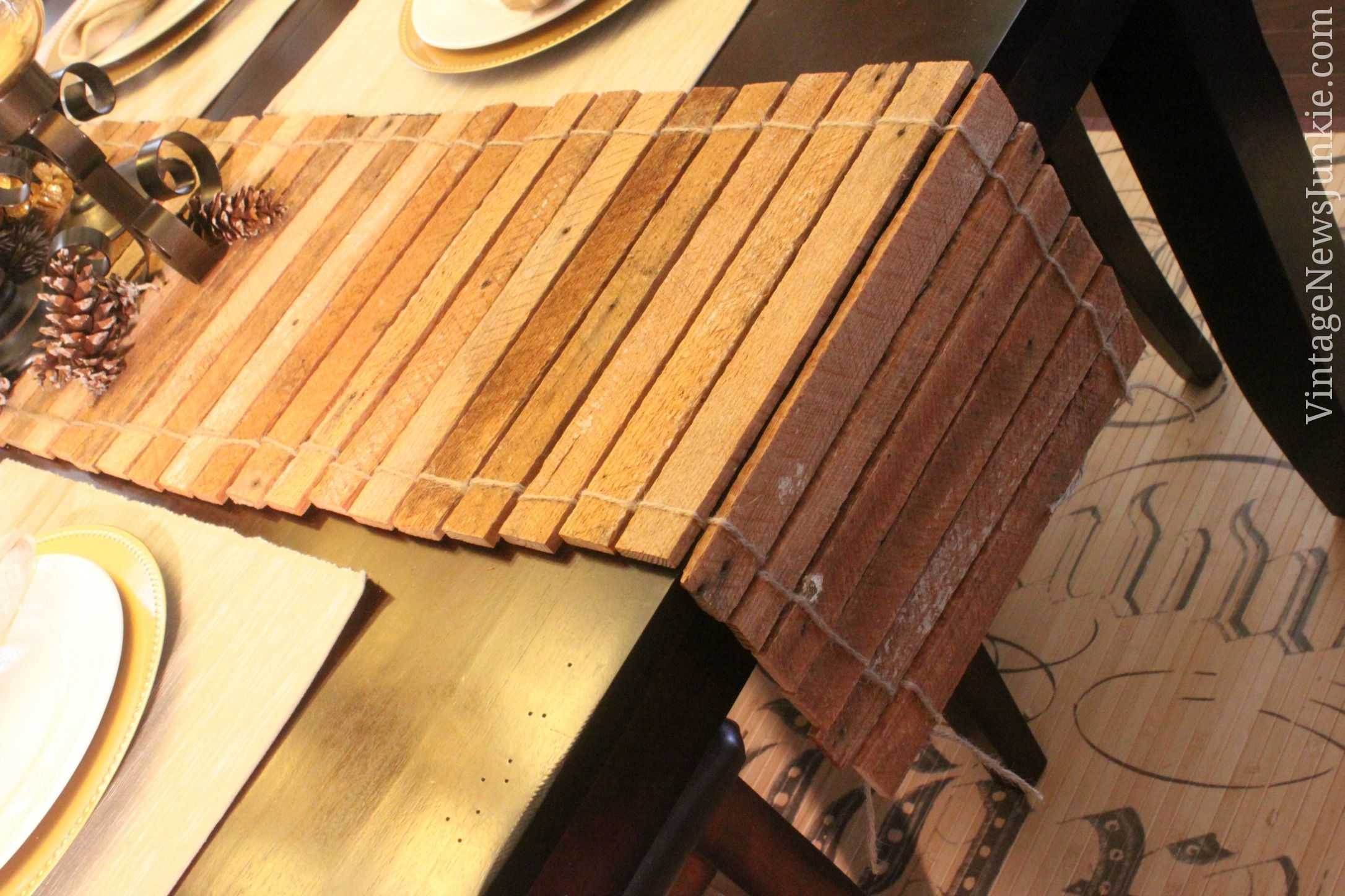 How to make a table runner out of scrap wood video for 102 table runners