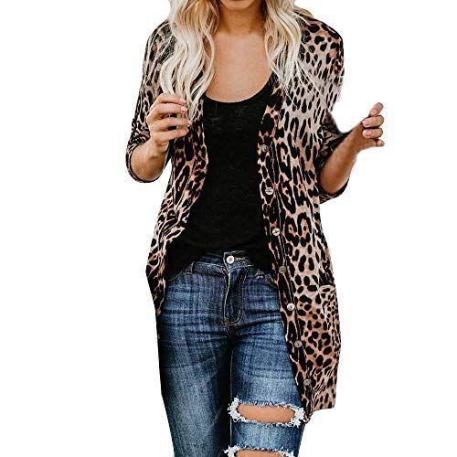 Damen Langarm Wasserfall Cardigan Sweatshirt Strickjacke Irregulär Jacke Mantel