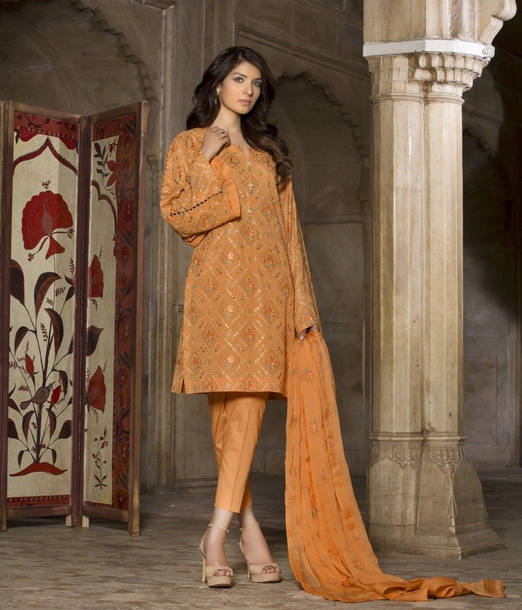 aff8ed35d29 Swiss Lawn Wings Of The Flower Fully Embroidered Eid Suit