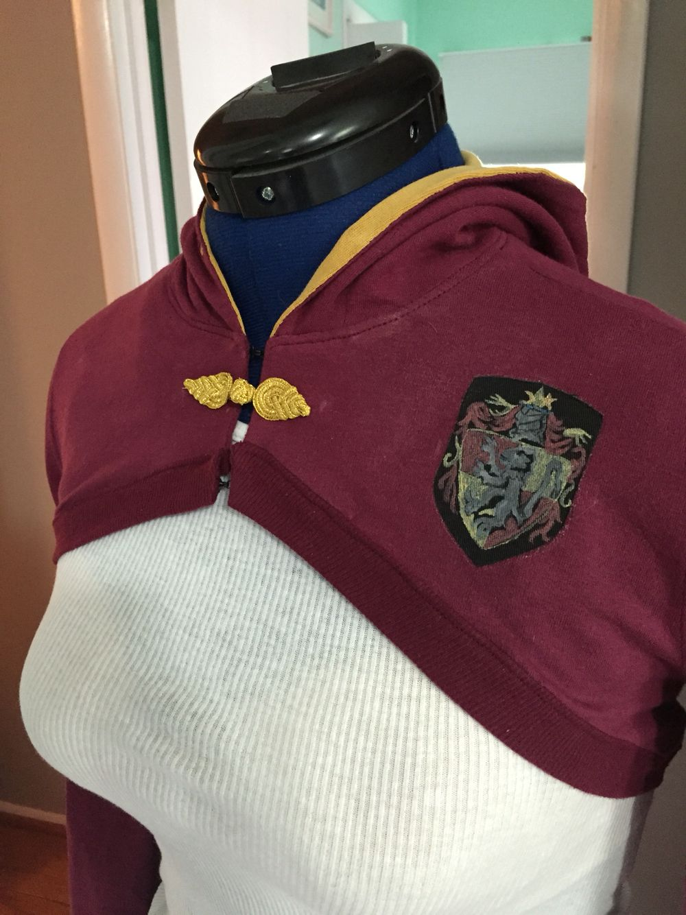 Gryffindor Quidditch shrug I made from free online hooded ...