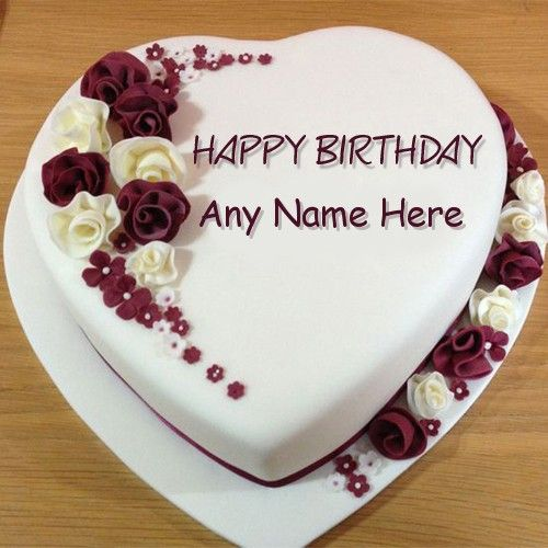 Create Rose Birthday Cake Image With Name Editor For Your