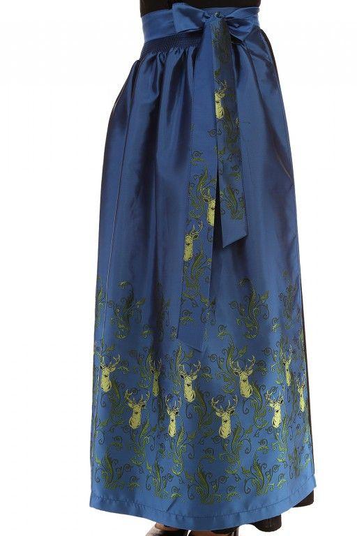 Festliche #Dirndlschürze in Blau mit wunderschönen Details ... kreieren Sie sich mit Ihrer persönlichen #Dirndl #Kollektion im Kleiderschrank einen neuen Look passend zum #Trachtenmode Farbentrend 2015