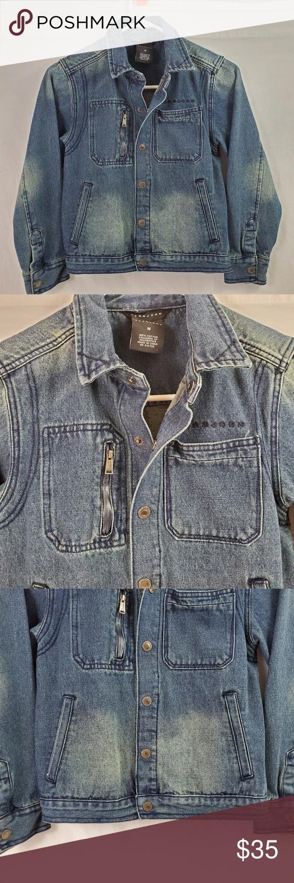 Seanjohn Distressed Denim Jacket Blue Medium 693 Distressed Denim Jacket Denim Jacket Distressed Denim [ 1740 x 580 Pixel ]