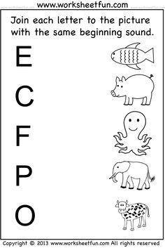 Beginning sound worksheets also learning pinterest kindergarten rh