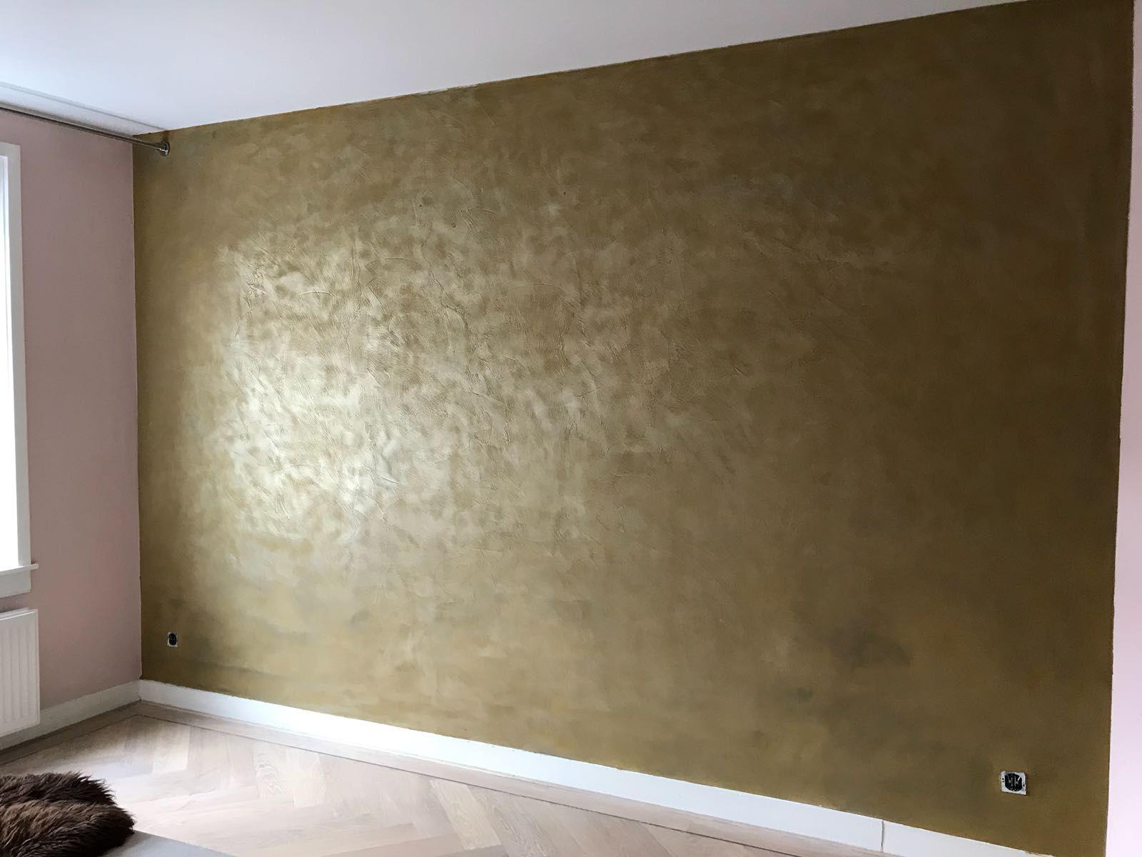 Messing Metalstuc Wand Van Bruizt Metallook Betonstuc Messing Donkere Slaapkamers Stucwerk Wanden Woonkamer Behang