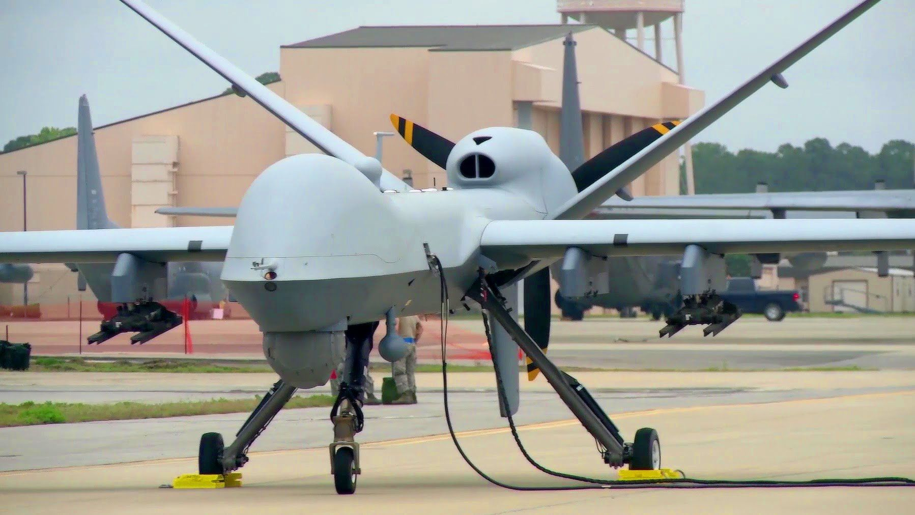 Awesome Military Drone Up Close View Of The MQ 9 Reaper UAV Check