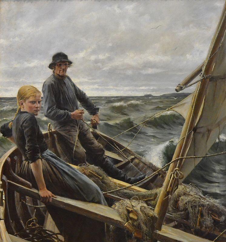 """At Sea"" by Albert Edelfelt, 1883"