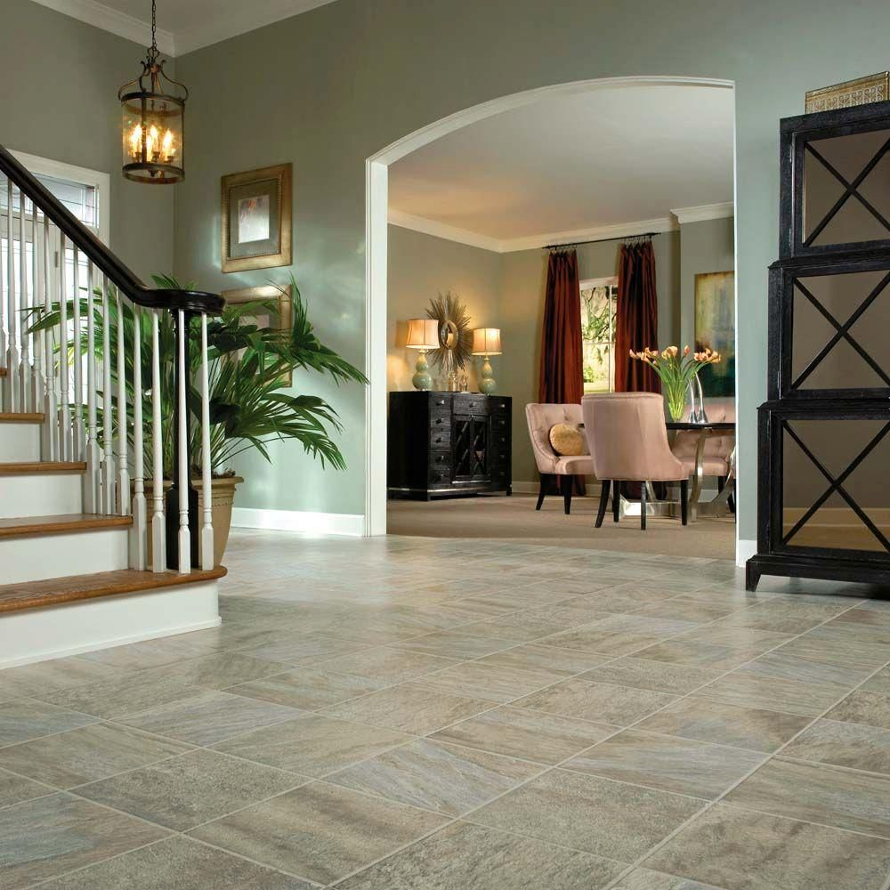 Bruce Pathways Sage Stone 8 Mm Thick X 11 13 16 In Wide X 47 49 64 In Length Laminate Flooring 23 50 Sq Ft Armstrong Flooring Flooring Laminate Flooring