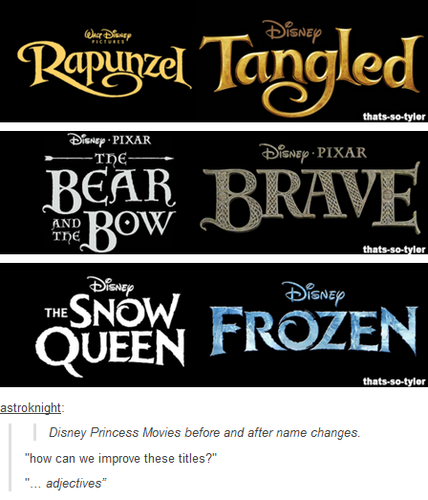 Disney Princess Photo: Before Names of Tangled, Brave and Frozen