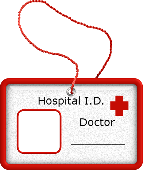 Doctor id badge doctor doctor pinterest badges clip for Dr name tag template