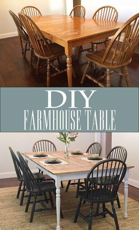 Diy Farmhouse Table La Touche D Agathe Fait Main Customisation Hacking Hack Tutorie Diy Farmhouse Table Kitchen Table Makeover Farmhouse Kitchen Tables