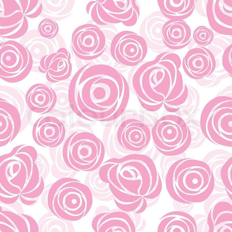Pink Art Vector Rose Pattern Seamless Flower Background Pattern Fabric Texture Floral Vintage D Pink Flowers Background Pink Art Flower Background Wallpaper